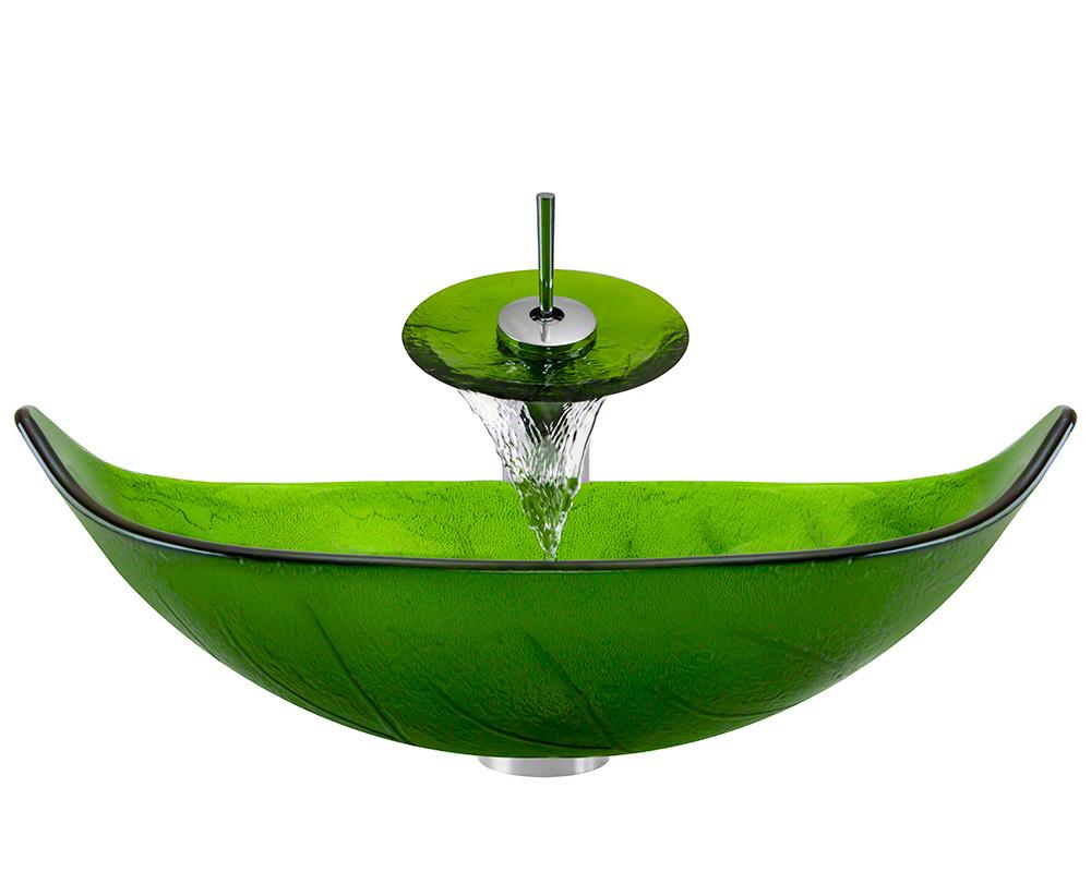 The Polaris P906 Chrome Bathroom Waterfall Faucet Ensemble