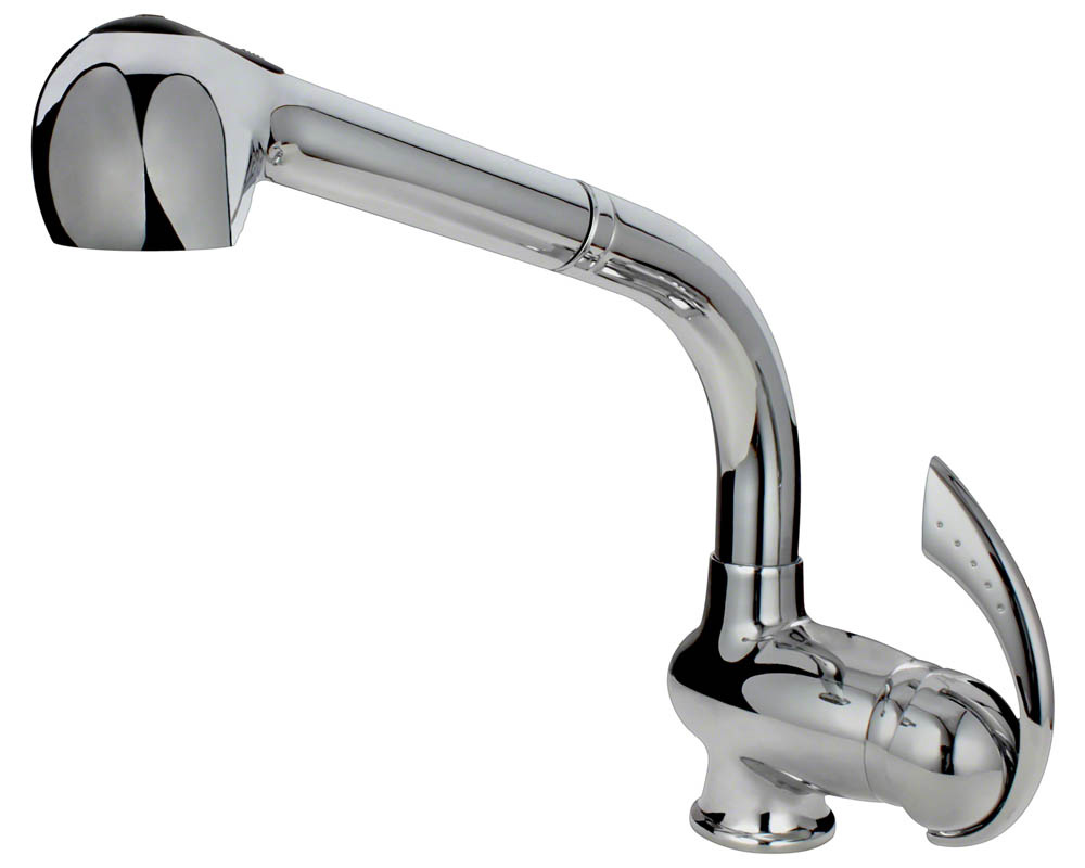 713-C Chrome Kitchen Faucet with Pull-Out Spray
