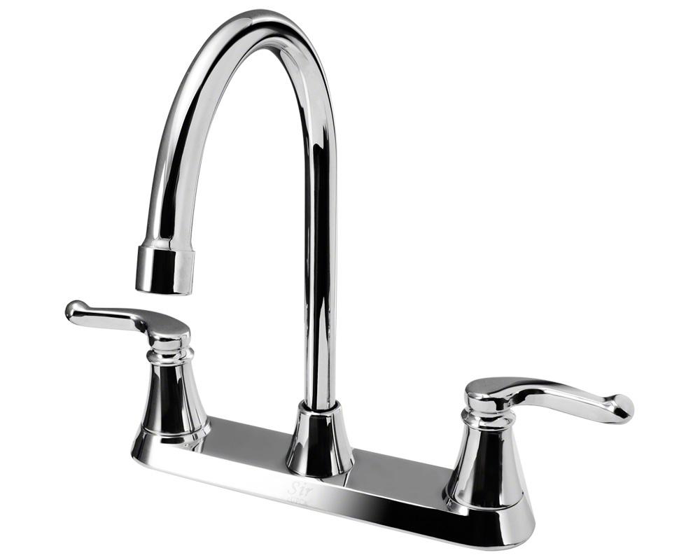 7142-C Chrome Double Handle Kitchen Faucet