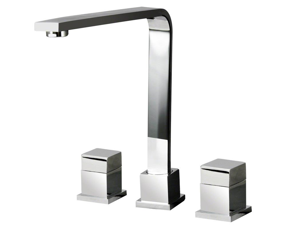 744-C Chrome Double Handle Kitchen Faucet