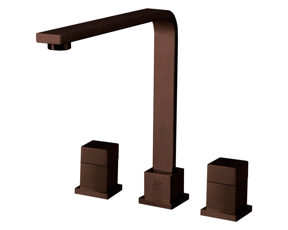744-ORB Oil Rubbed Bronze Double Handle Kitchen Faucet