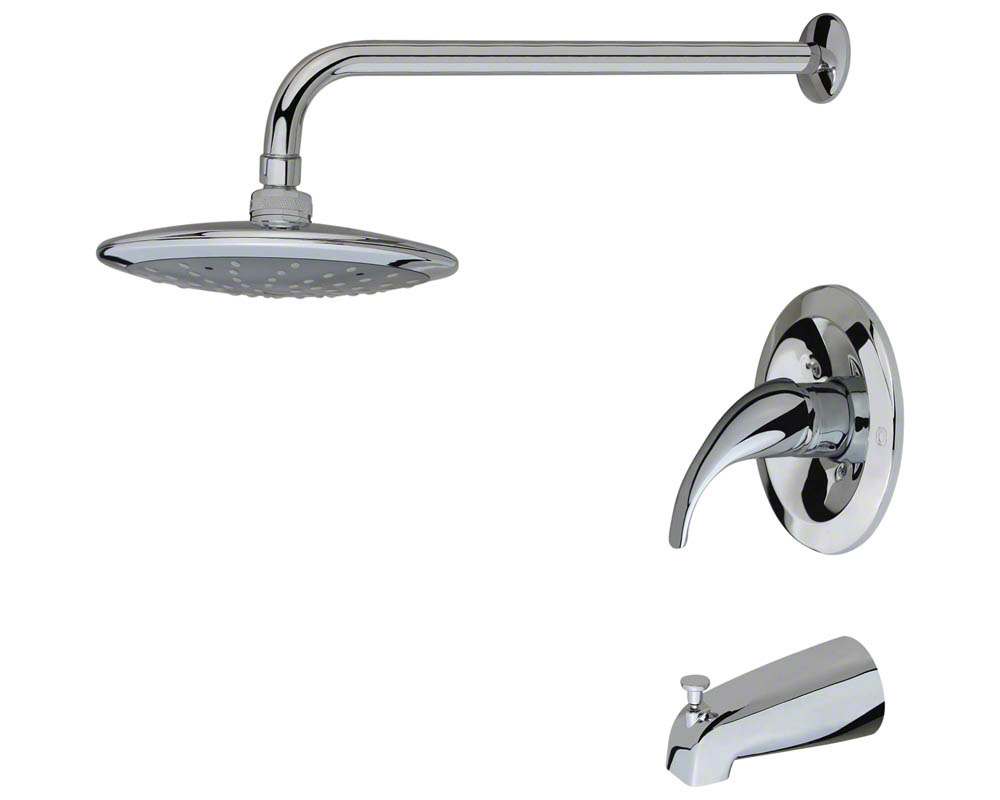 750-C Chrome 3 Piece Rain Head Shower Set
