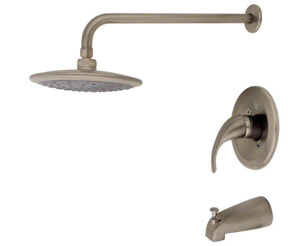 750-BN Brushed Nickel 3 Piece Rain Head Shower Set