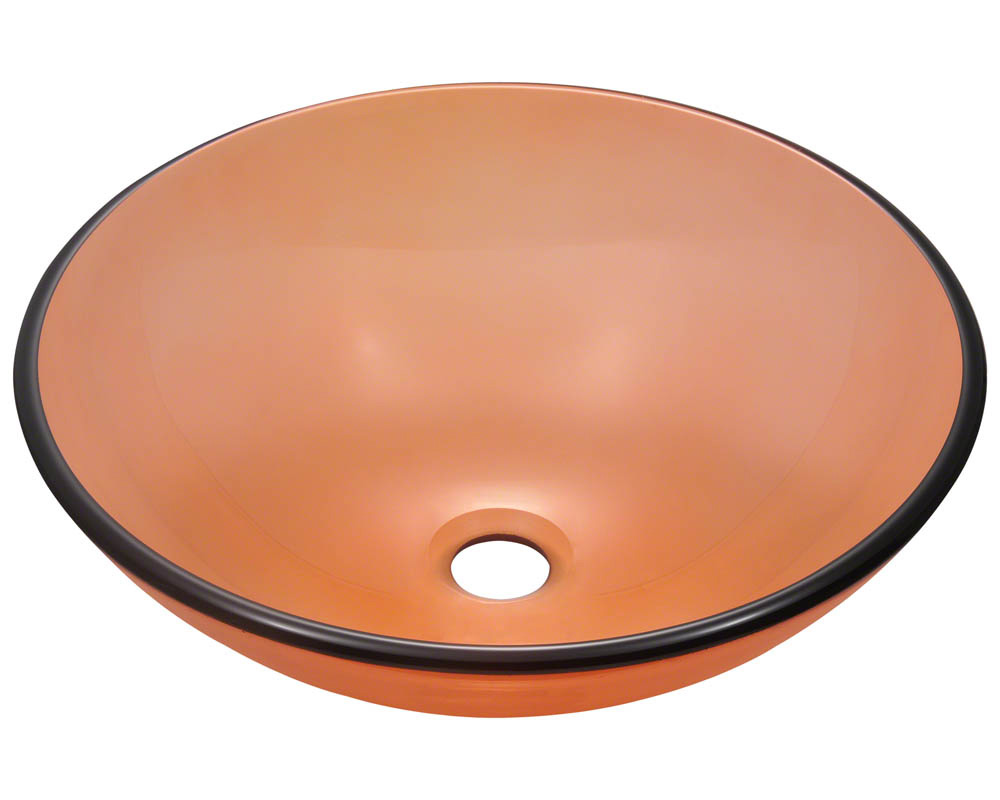 Polaris P106 Coral Coloured Glass Vessel Sink