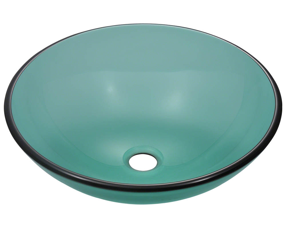 Polaris P106 Emerald Coloured Glass Vessel Sink