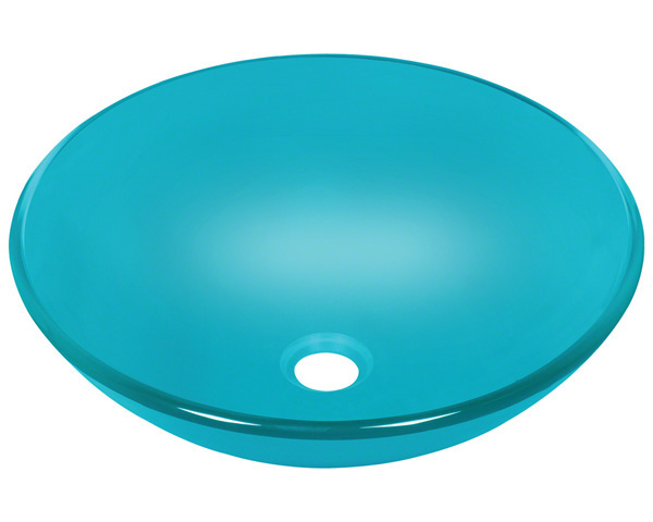 Polaris P106 Turquoise Coloured Glass Vessel Sink