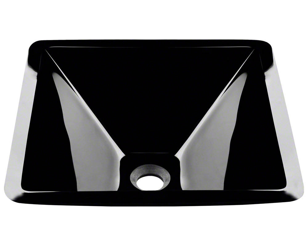 Polaris P306 Black Coloured Glass Vessel Sink