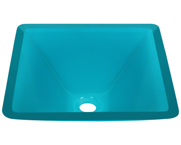 Polaris P306 Turquoise Coloured Glass Vessel Sink
