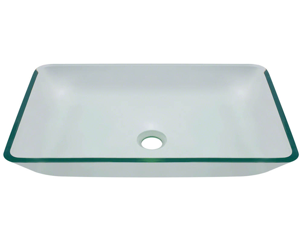 Polaris P046 Crystal Glass Vessel Bathroom Sink