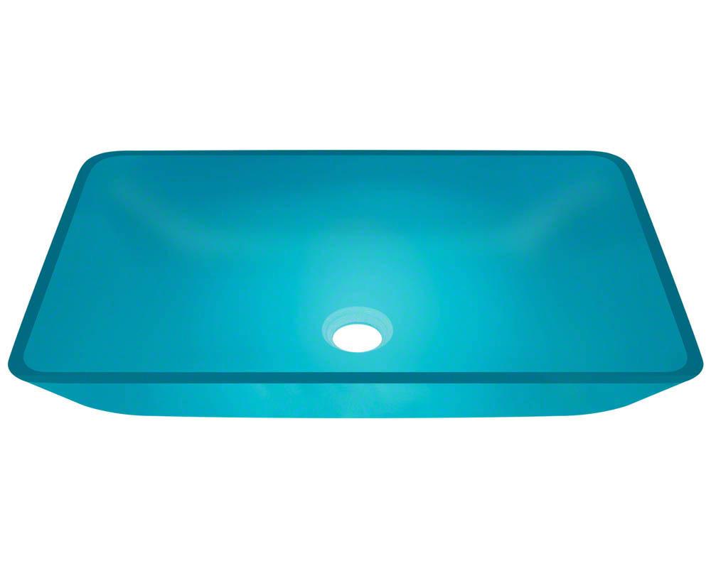 Polaris P046 Turquoise Coloured Glass Vessel Bathroom Sink