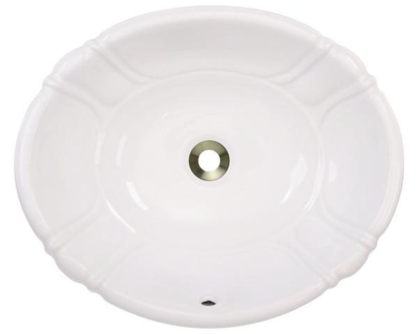 Polaris P5181O-b Bisque Porcelain Vessel / Drop-In Bathroom Vanity Sink