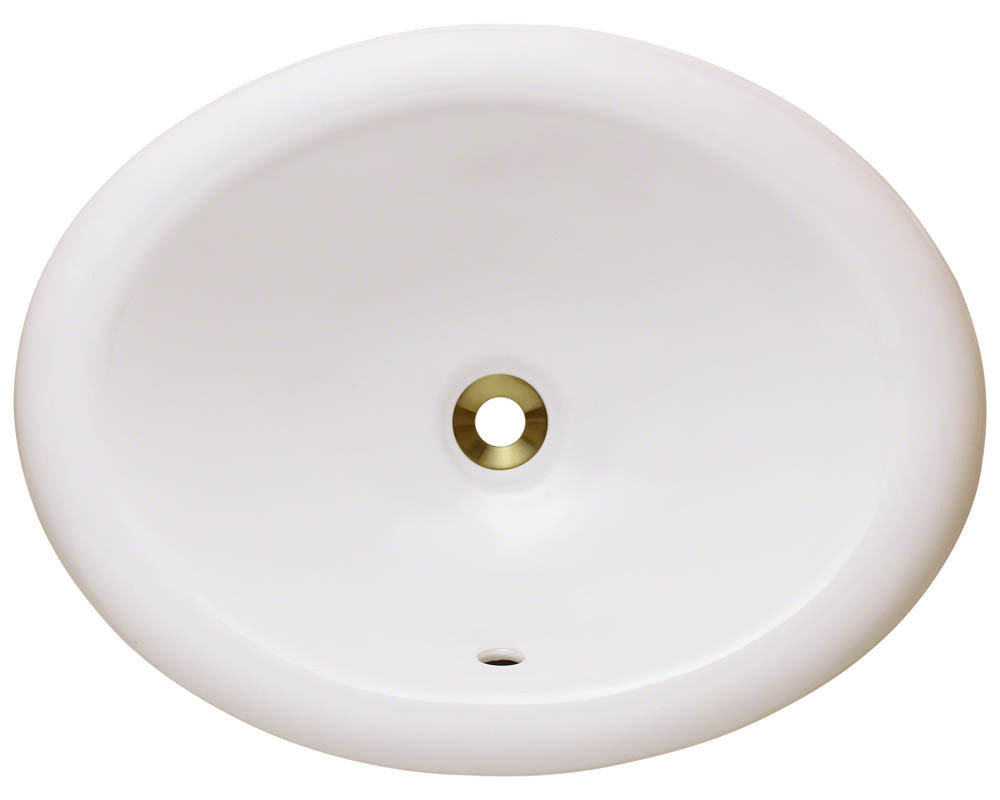 Polaris P7191-b Bisque Porcelain Overmount Vanity Bowl