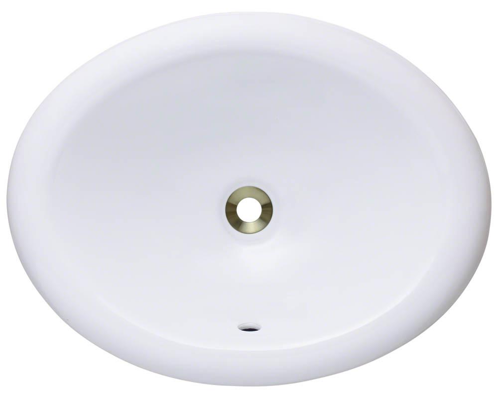 Polaris P7191-w White Porcelain Overmount Vanity Bowl