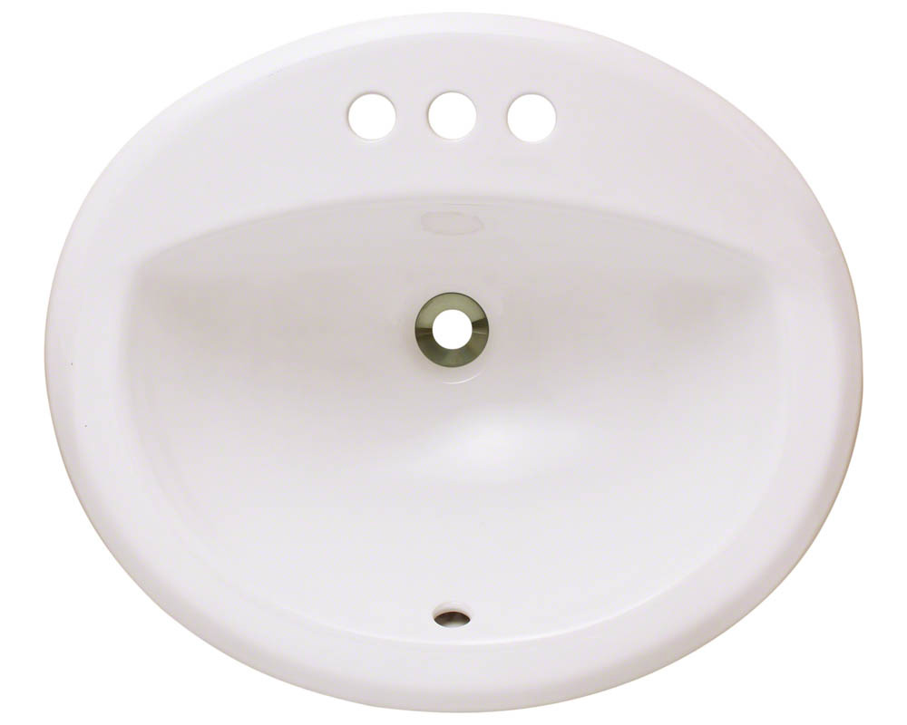 Polaris P8102O-b Bisque Overmount Bathroom Sink