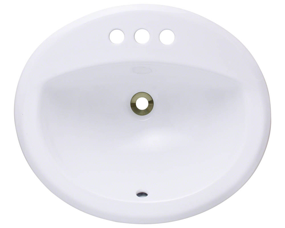 Polaris P8102O-w White Overmount Bathroom Sink