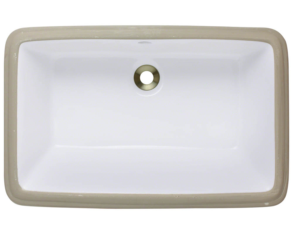 Polaris P2181U-w White Porcelain Undermount Bathroom Sink