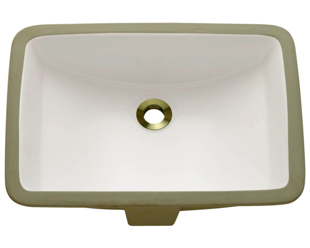Polaris P3191U-b Bisque Rectangular Porcelain Undermount Bathroom Sink