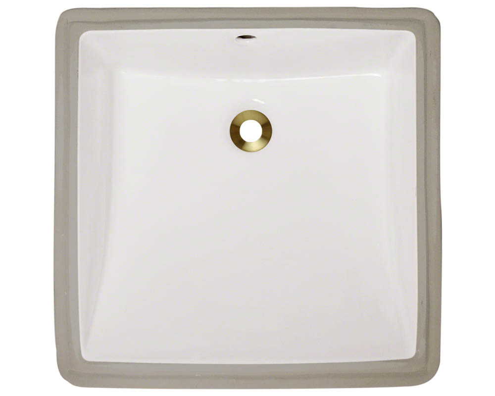 Polaris P0322U-b Bisque Porcelain Undermount Bathroom Sink