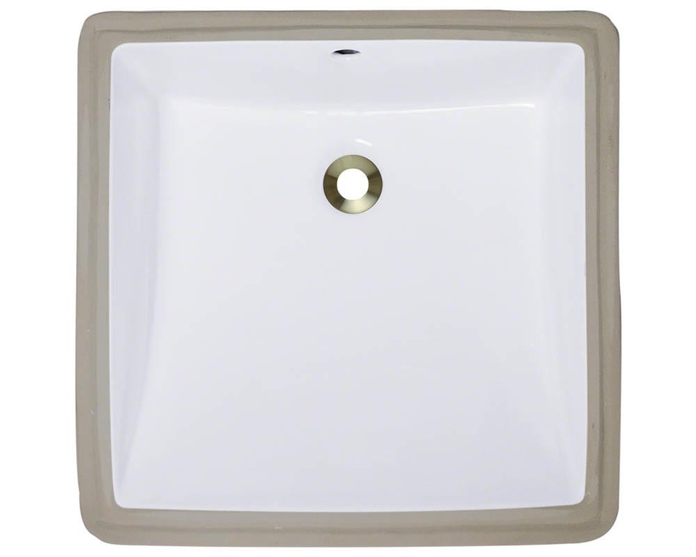 Polaris P0322U-w White Porcelain Undermount Bathroom Sink