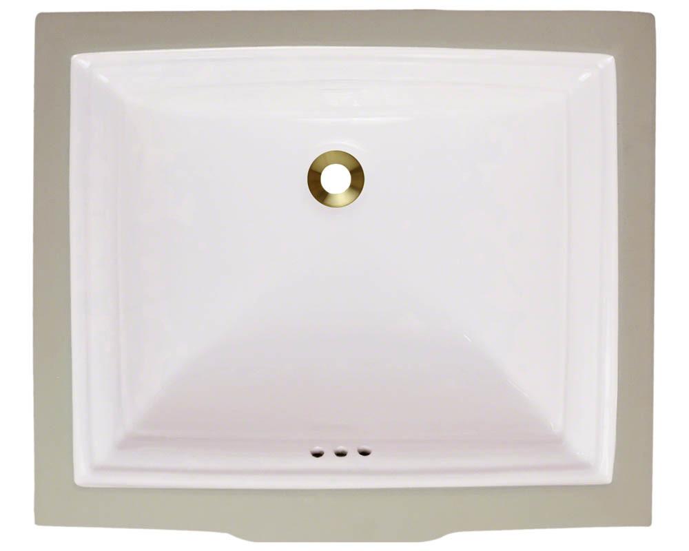 Polaris P0542U-b Bisque Undermount Rectangular Porcelain Sink