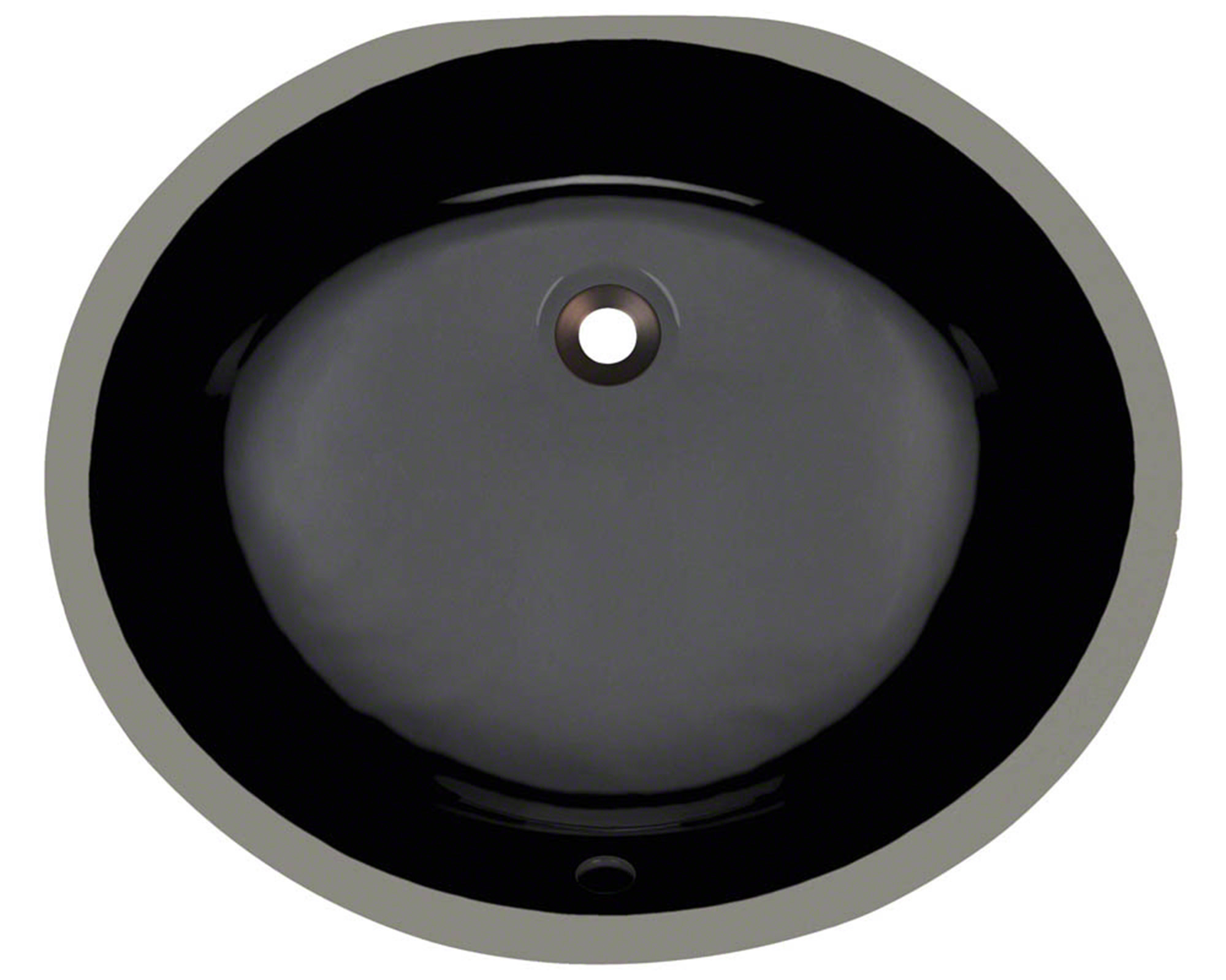 Polaris PUPM-bl Black Porcelain Bathroom Sink