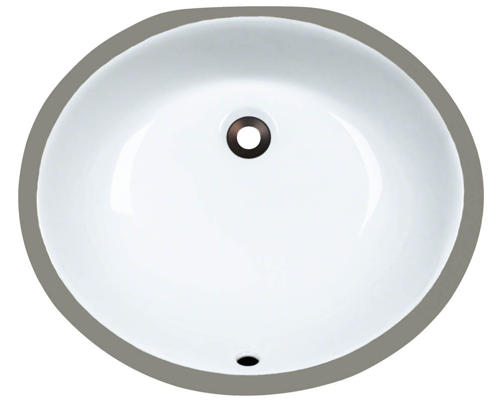 Polaris PUPM-w White Porcelain Bathroom Sink