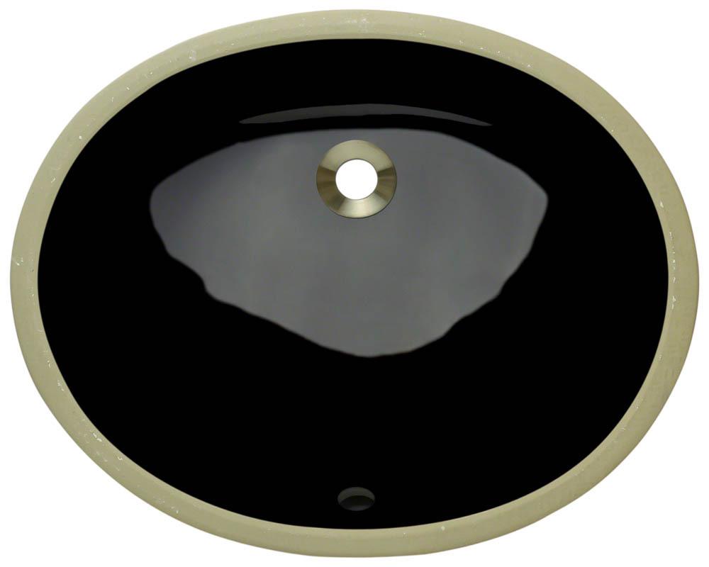 Polaris PUPS-bl Black Porcelain Bathroom Sink