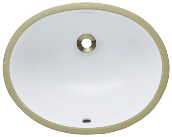 Polaris PUPS-w White Porcelain Bathroom Sink
