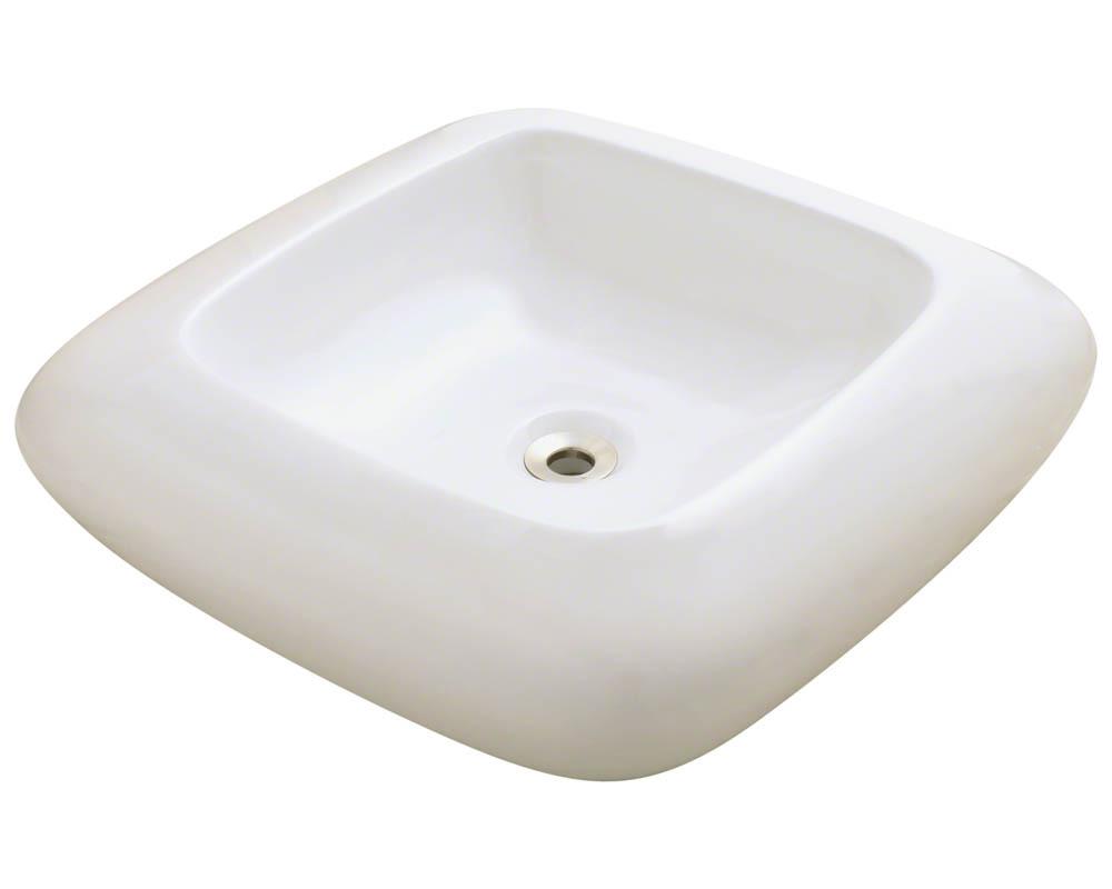 Polaris P001V-b Bisque Pillow Top Porcelain Vessel Sink