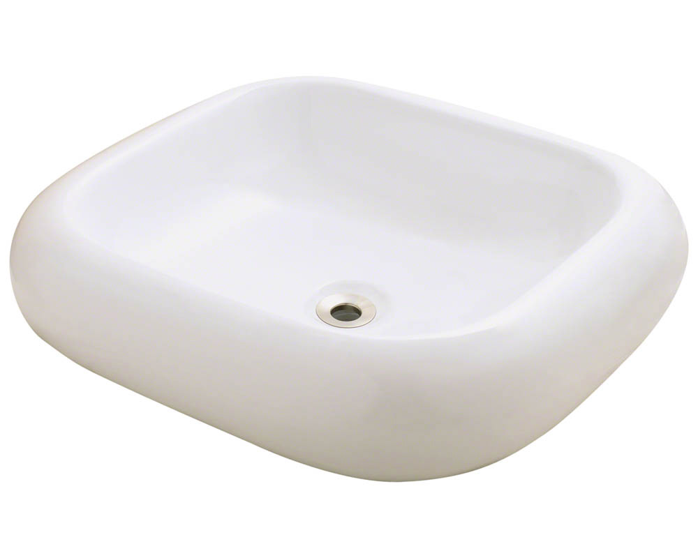 Polaris P011V-b Bisque Pillow Top Porcelain Vessel Sink