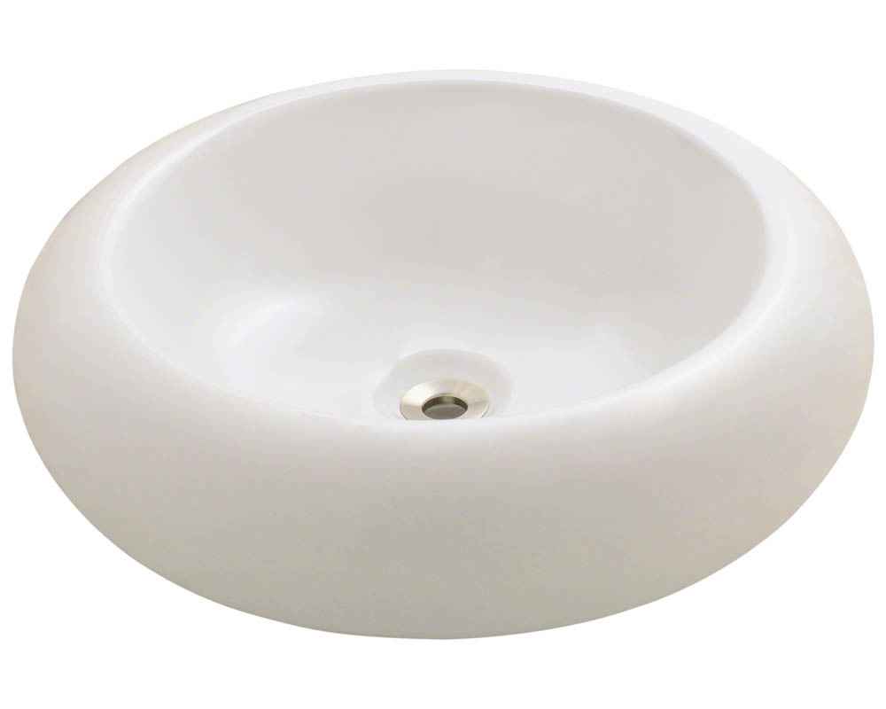 Polaris P021V-b Bisque Pillow Top Porcelain Vessel Sink