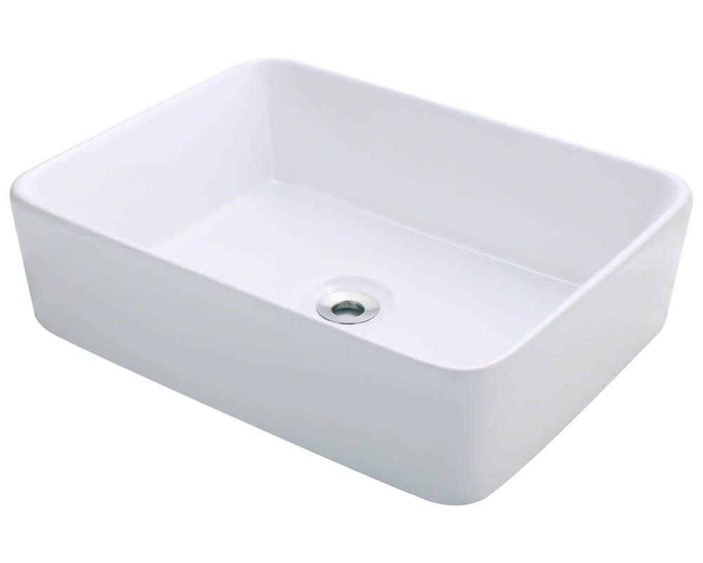 Polaris P041V-w White Porcelain Vessel Sink