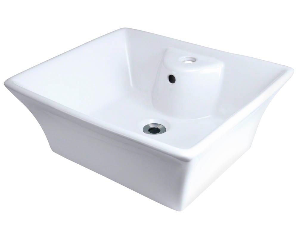 Polaris P051V-w White Porcelain Vessel Sink