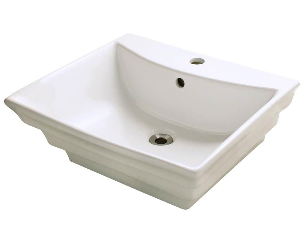 Polaris P061V-b Bisque Porcelain Vessel Sink