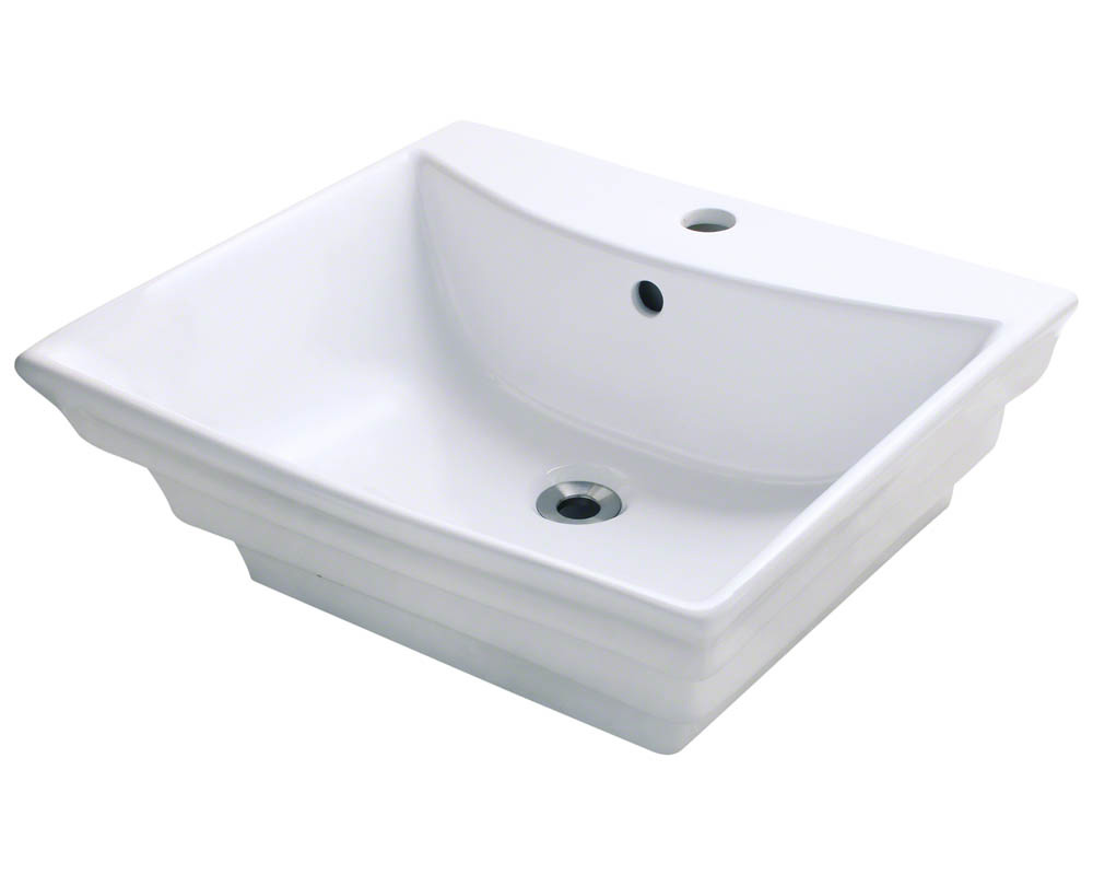 Polaris P061V-w White Porcelain Vessel Sink