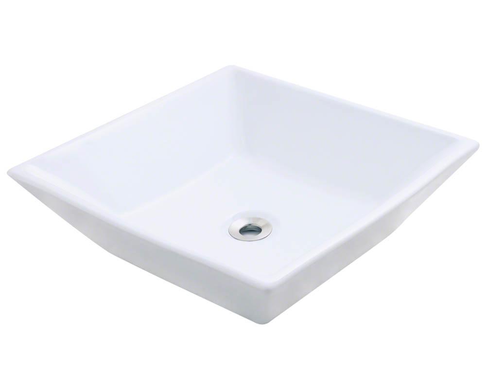 Polaris P071V-w White Porcelain Vessel Sink