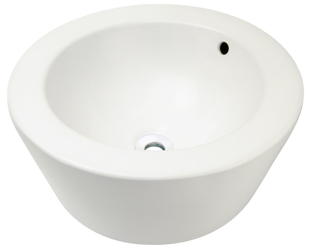Polaris P2091-b Bisque Porcelain Vessel Sink
