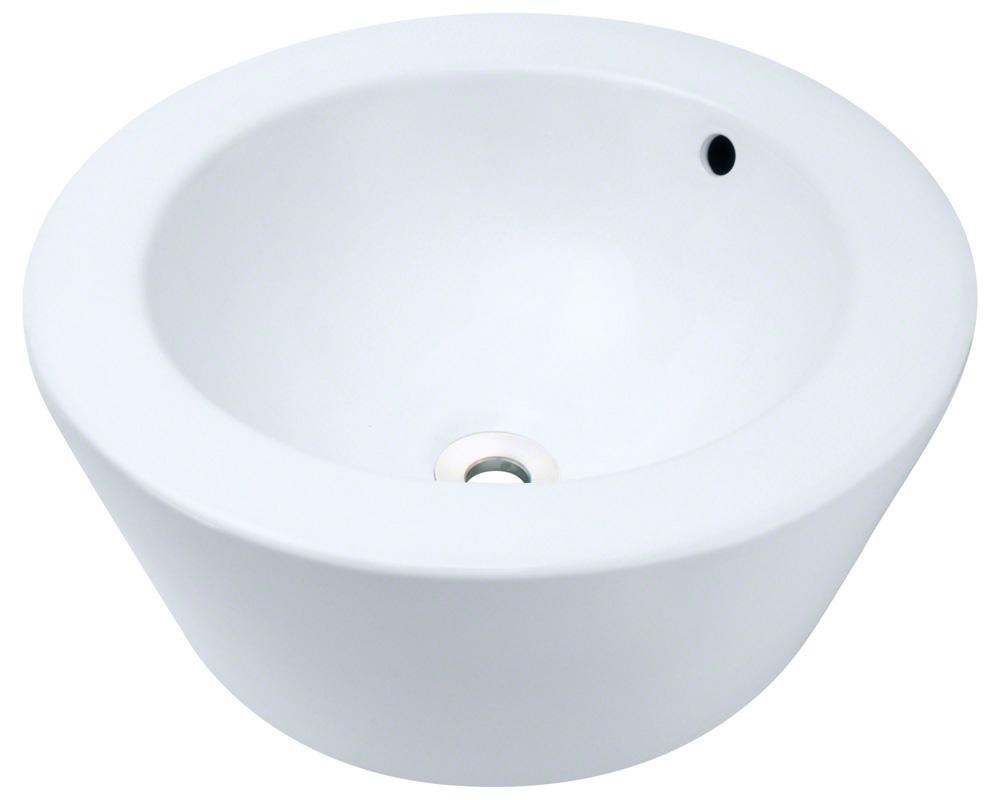 Polaris P2091-w White Porcelain Vessel Sink