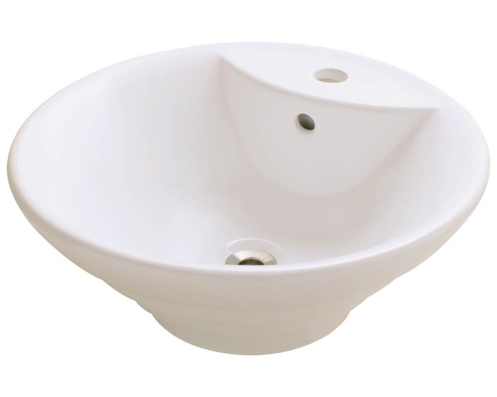 Polaris P002V-b Bisque Porcelain Vessel Sink