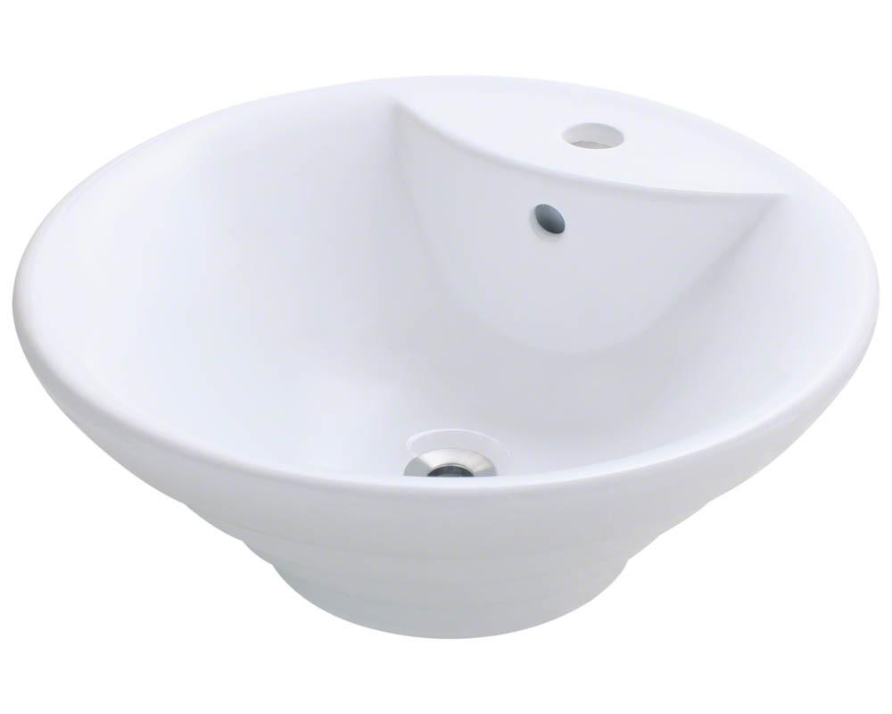 Polaris P002V-w White Porcelain Vessel Sink