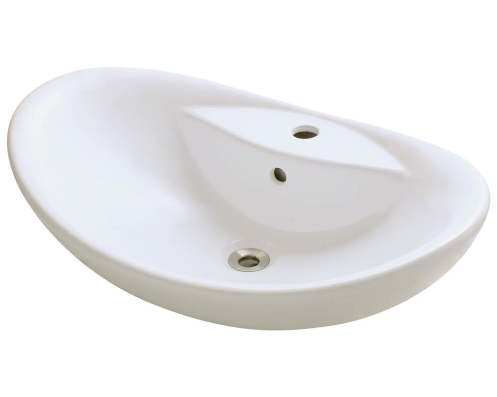 Polaris P012V-b Bisque Porcelain Vessel Sink