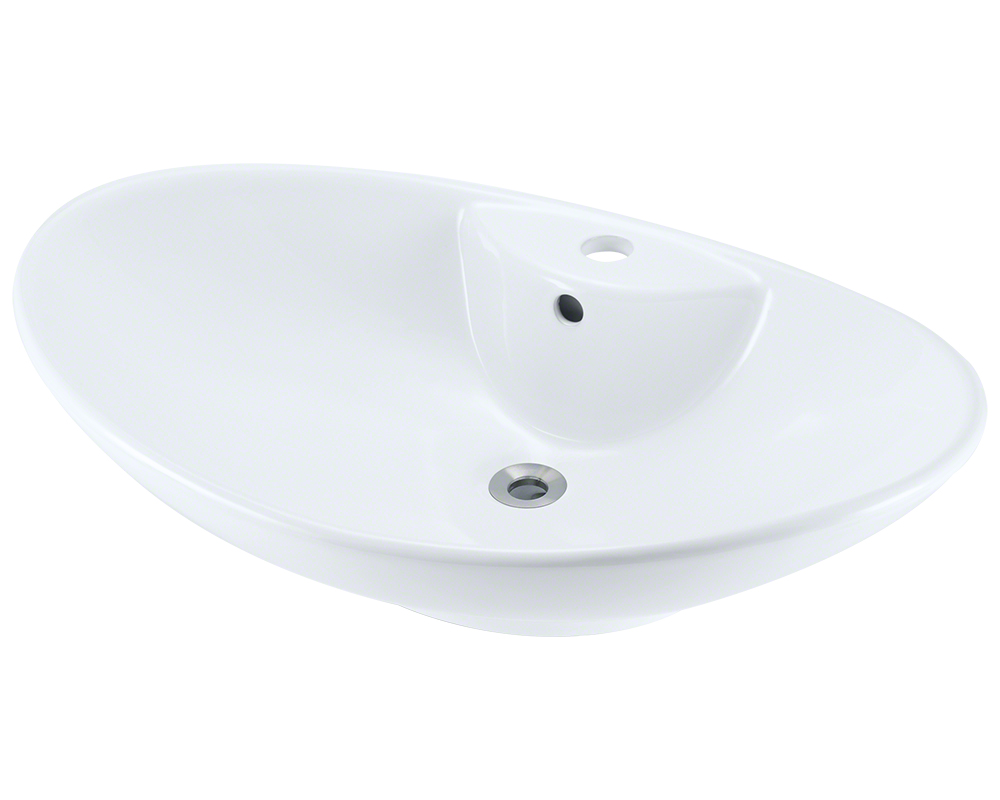 Polaris P2012V-w White Porcelain Vessel Sink
