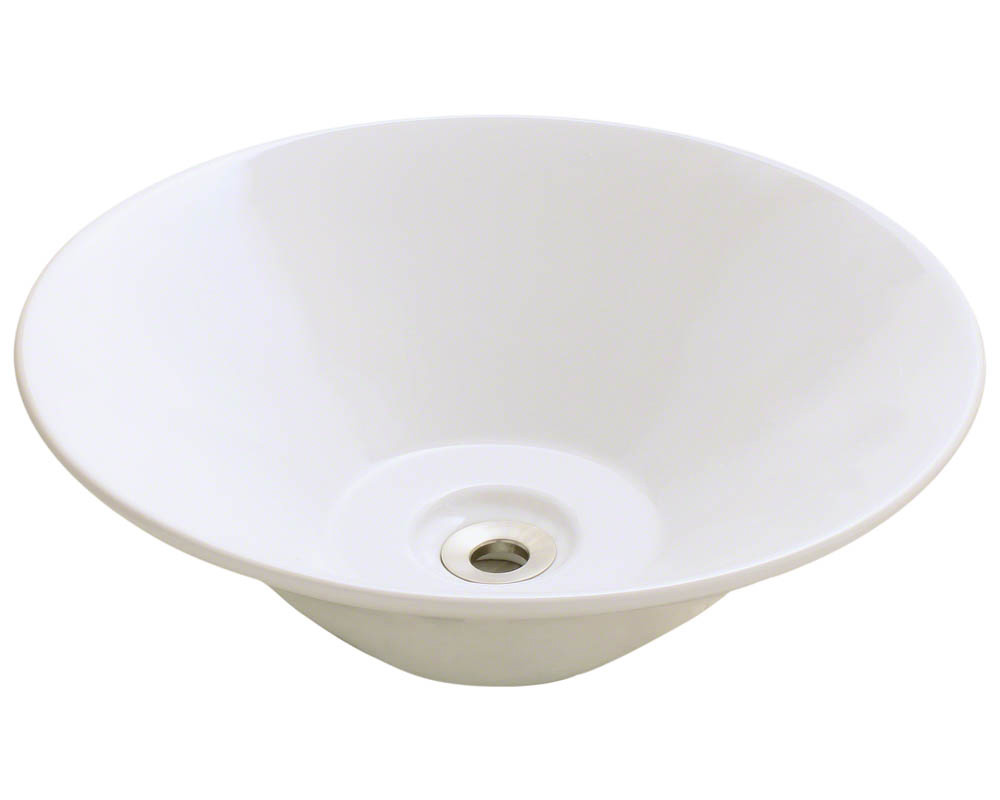 Polaris P022V-b Bisque Porcelain Vessel Sink