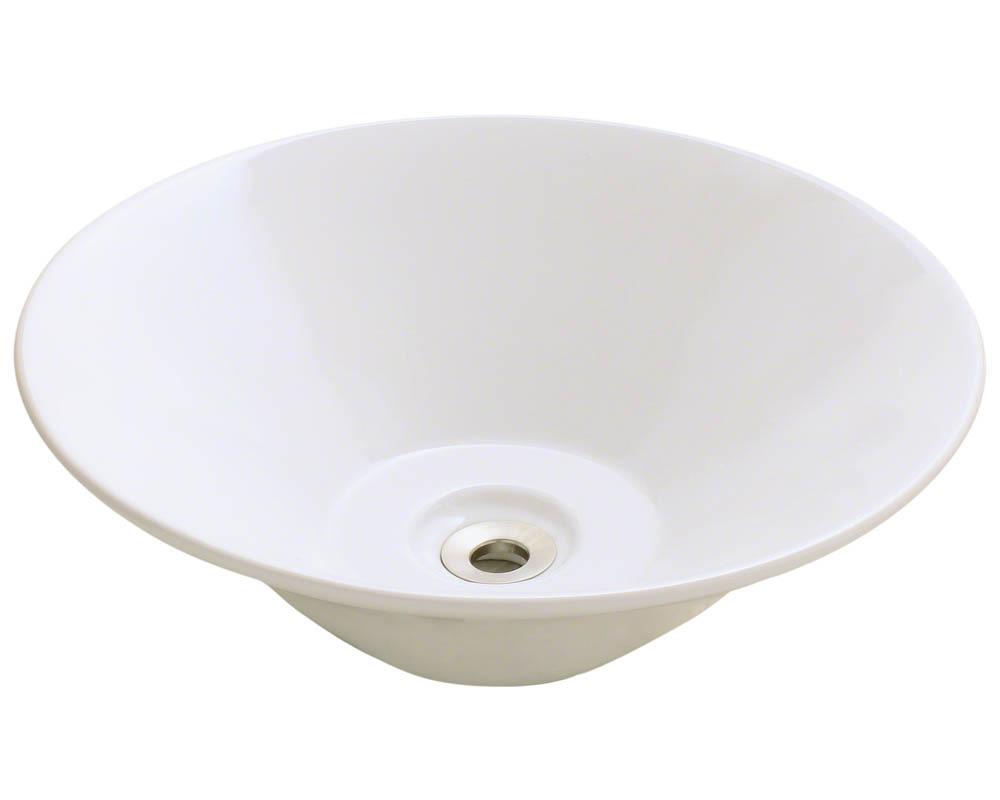 Polaris P022V-b Bisque Porcelain Vessel Sink
