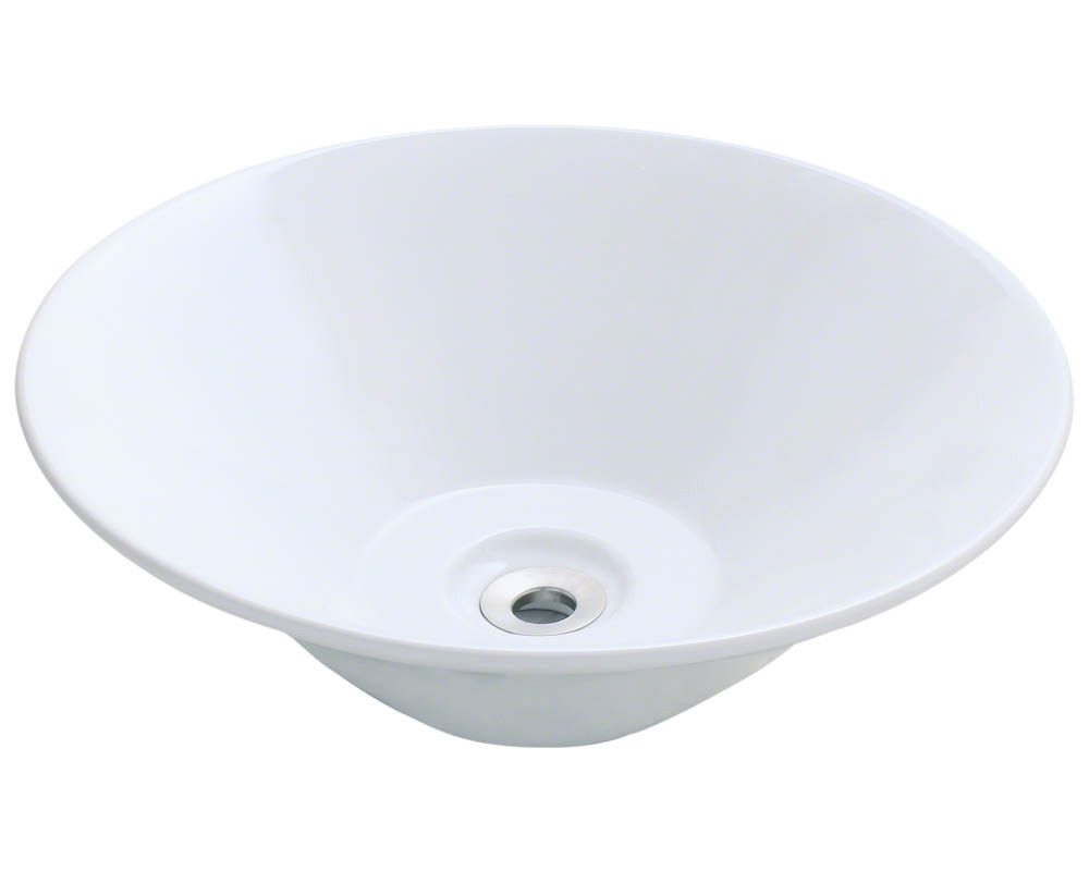 Polaris P022V-w White Porcelain Vessel Sink