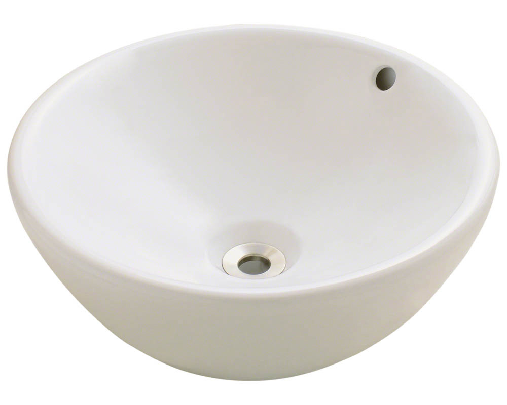Polaris P0022V-b Bisque Porcelain Vessel Sink