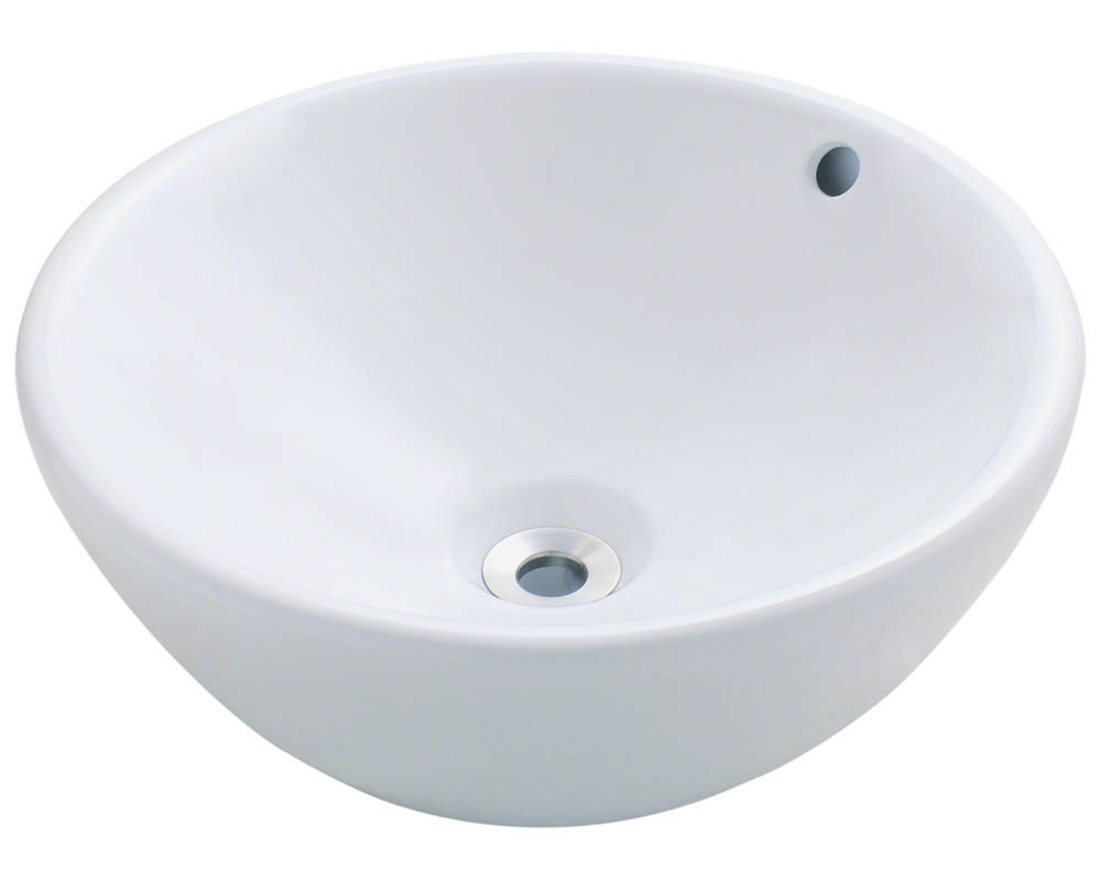 Polaris P0022V-w White Porcelain Vessel Sink