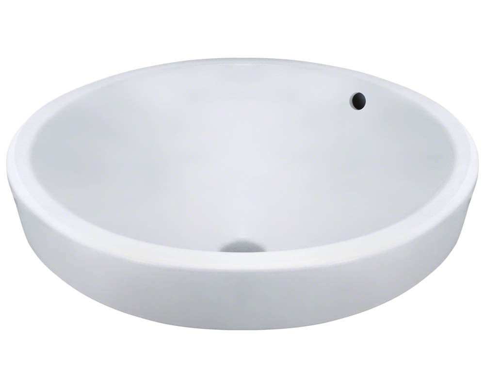 Polaris P28122V-w White Porcelain Vessel Lavatory Sink