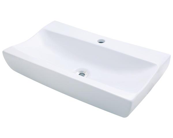 Polaris P032V-w White Porcelain Vessel Sink