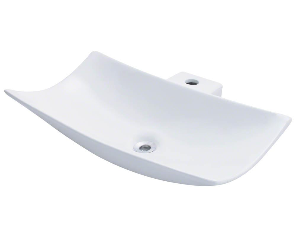 Polaris P042V-w White Porcelain Vessel Sink